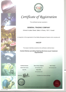 HACCP CERTIFICATE S1 6